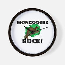 Mongooses Rock! Wall Clock