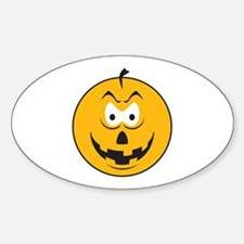 Jack-O-Lantern Smiley Face Oval Decal