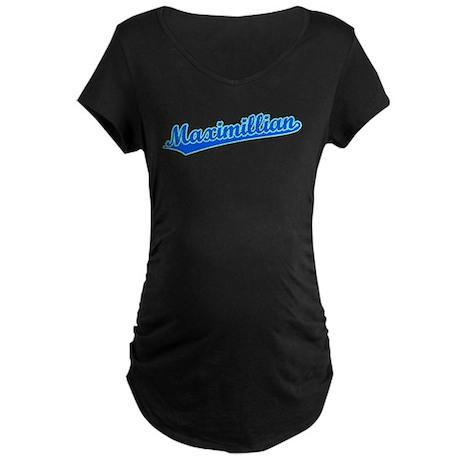 Retro Maximillian (Blue) Maternity Dark T-Shirt