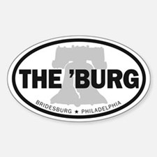 The Burg Oval Decal