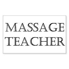 Massage Teacher Rectangle Decal
