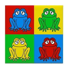 Pop Art Frog Tile Coaster