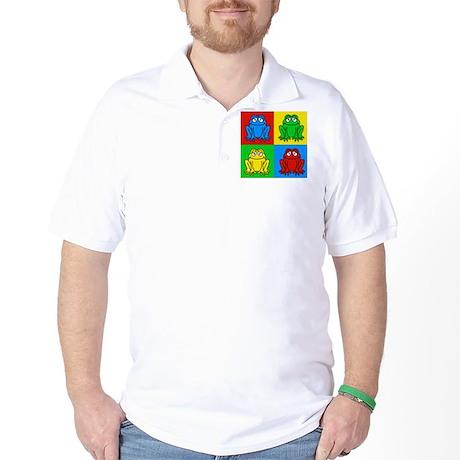 Pop Art Frog Golf Shirt