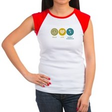 Peace Love World Domination Women's Cap Sleeve T-S