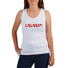 Cincinnati Faded (Red) Women's Tank Top