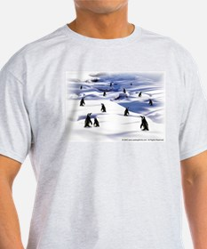 Penguin Scene Ash Grey T-Shirt