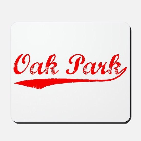 Vintage Oak Park (Red) Mousepad