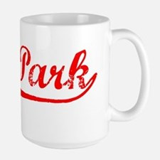 Vintage Oak Park (Red) Large Mug