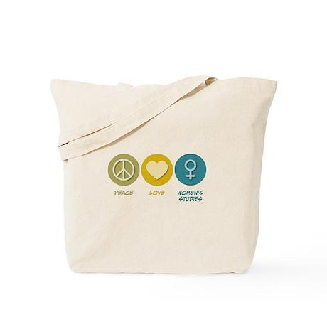 Peace Love Women's Studies Tote Bag