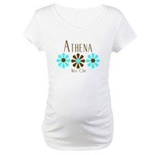 Athena - Blue/Brown Flowers Shirt