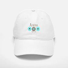 Athena - Blue/Brown Flowers Baseball Baseball Cap