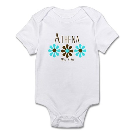 Athena - Blue/Brown Flowers Infant Bodysuit