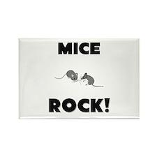 Mice Rock! Rectangle Magnet