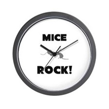 Mice Rock! Wall Clock