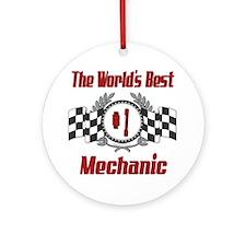 Racing Mechanic Ornament (Round)