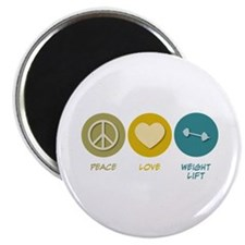 Peace Love Weight Lift Magnet
