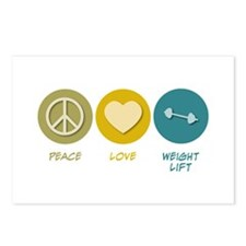 Peace Love Weight Lift Postcards (Package of 8)