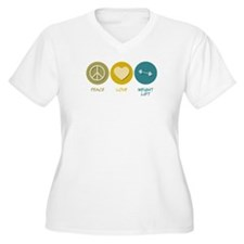 Peace Love Weight Lift T-Shirt