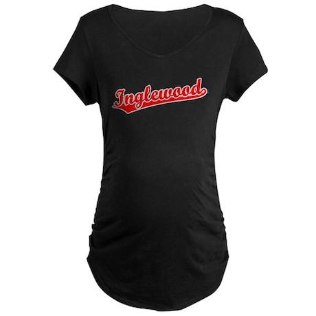 Retro Inglewood (Red) Maternity Dark T-Shirt