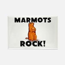 Marmots Rock! Rectangle Magnet (10 pack)