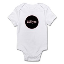 Ashlynn - Pink Name Circle Infant Bodysuit