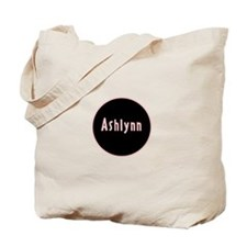 Ashlynn - Pink Name Circle Tote Bag