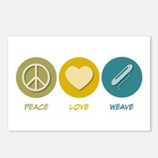Peace Love Weave Postcards (Package of 8)
