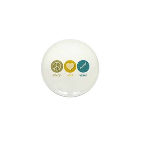 Peace Love Weave Mini Button (10 pack)