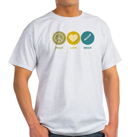 Peace Love Weave Light T-Shirt