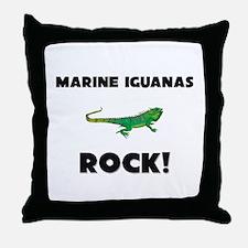 Marine Iguanas Rock! Throw Pillow