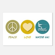 Peace Love Water Ski Postcards (Package of 8)