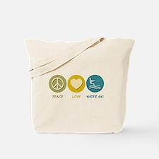 Peace Love Water Ski Tote Bag