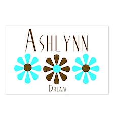 Ashlynn - Blue/Brown Flower Postcards (Package of