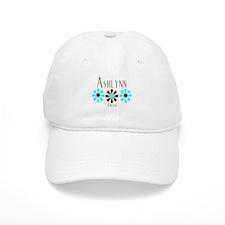 Ashlynn - Blue/Brown Flower Baseball Cap
