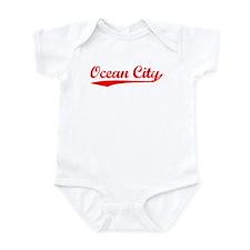 Vintage Ocean City (Red) Infant Bodysuit