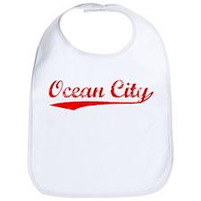Vintage Ocean City (Red) Bib