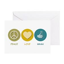 Peace Love Wash Greeting Card