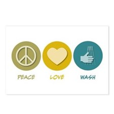 Peace Love Wash Postcards (Package of 8)