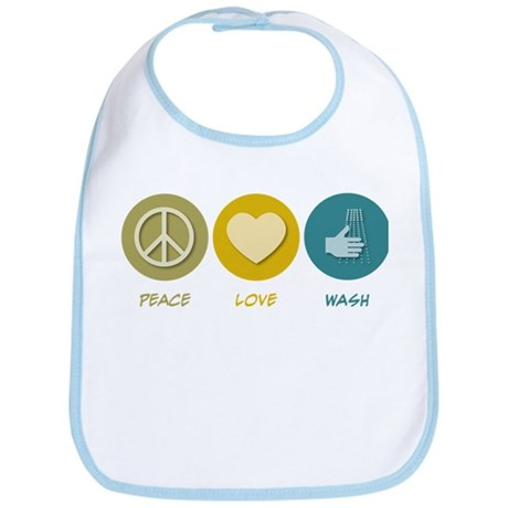 Peace Love Wash Bib