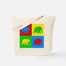 Pop Art Elephant Tote Bag
