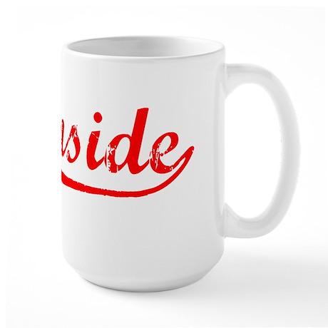 Vintage Oceanside (Red) Large Mug
