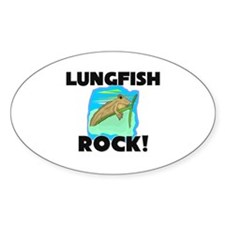 Lungfish Rock! Oval Decal