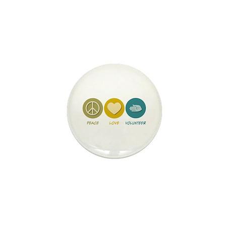 Peace Love Volunteer Mini Button