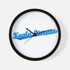 Retro Kuala Lumpur (Blue) Wall Clock
