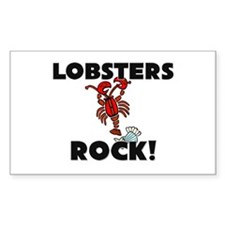 Lobsters Rock! Rectangle Decal