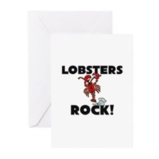 Lobsters Rock! Greeting Cards (Pk of 10)