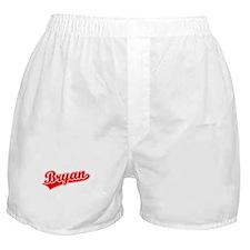 Retro Bryan (Red) Boxer Shorts