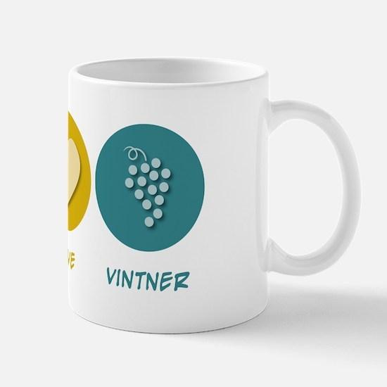 Peace Love Vintner Mug