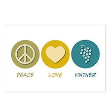 Peace Love Vintner Postcards (Package of 8)