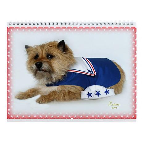 Sailor Cairn Terrier Wall Calendar
